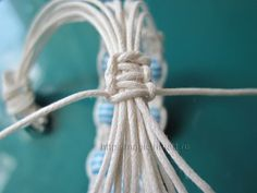 DIY Macramé Bracelet with Beads - #art, #diy