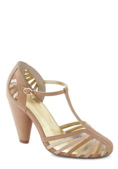 Tempest Heel in Tan by Seychelles - Tan, Multi, Solid, Cutout, Party, Daytime Party, High, Leather, Faux Leather