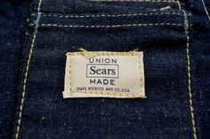 Sears union made selvage selvedge long john blog blue rigid raw american 1950 deadstock usa apron schort deadstock long john green new old  (5)