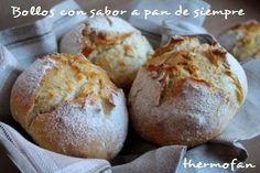 Bollos con sabor a pan de siempre, sin amasado