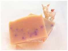 Image of Goat Milk Body Soap (with Gromwell Root Extract) Aomori, All Natural Skin Care, Body Soap, Goat Milk, Goats, Cosmetics, Fruit, Green, Image