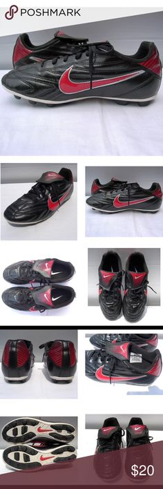 Nike Jr Premier II 2 Soccer Cleats Youth Size 6Y Nike Jr Premier II 2 Soccer Cleats 359616-064 Youth Size 6Y - EUC! NIKE Kid's Jr Youth Premier II FG-R Soccer Cleats Black Red UPPER: Soft PVC-free synthetic leather provides the upper of this boot, giving a great ball feel for excellent ball control.  MIDSOLE: The high-density EVA sockliner provides extra heel cushioning, optimizing comfort.  OUTSOLE: Injected rubber and conical forefoot studs make up the outsole of this shoe. They provide…