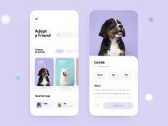 Ui Design Mobile, App Ui Design, Best App Design, Pet Websites, Profile App, Android App Design, App Design Inspiration, Pet Adoption, Pets