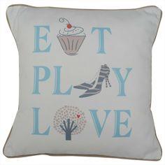 CUSHI   Eat, Play, Love Cushion #pillow #cushion #homedecor Eat Play Love, Cushion Pillow, Cushions, Throw Pillows, Amazing, Home Decor, Toss Pillows, Toss Pillows, Decoration Home