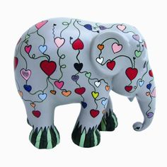 Elephant Parade | 10 cm Let Your Heart Flower | Collectible Sculpture | Hand Painted | Charity | Elephant Conservation | www.homearama.co.uk