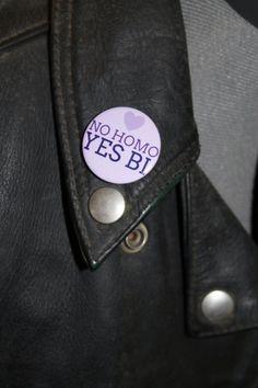 No homo Yes Bi bisexual pride LGBT pride by BadgesAndBobbleHats, £0.96
