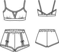 Corpete e culottes à francesa