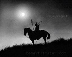 Indian art western art indian brave native American by lewfoster