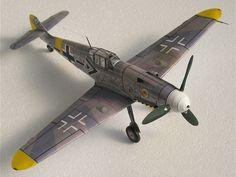 1:32 Scale Messerschmit German BF-109 Fighter Aircraft Handcraft Paper Model Kit #Unbranded