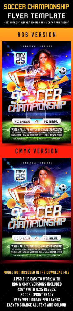 Football Euro Cup Flyer  Flyer Template Euro And Template