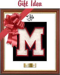 Varsity letter frames can be great gifts for the sports fanatic on your list! You can customize your varsity letter frame with frame moulding, matting in school schools, embossed insignia and a personalized engraved plate. Search for your school today!