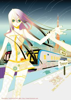 【title】Bright night / 【Source】Illustration for theater publicity image  by Yoshimi Ohtani