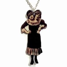 Conjoined Twins Necklace Siamese Circus by TheSpangledMaker, $24.00