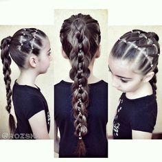 Пятипрядная коса, прически для девочек, прически из кос, braids for girls