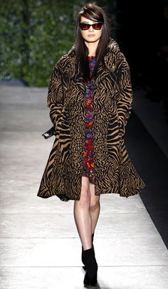 The Wild Punk Coat I Abstract Tiger #Print #Fashion #Trend for all Winter 2013 I Tracy Reese #Fall2013 #trendy #print