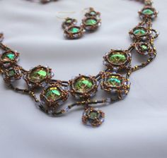 Check out this item in my Etsy shop https://www.etsy.com/listing/222119895/hand-beaded-necklace-and-earring-set