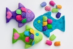 how to sew a small fish pattern & tutorial