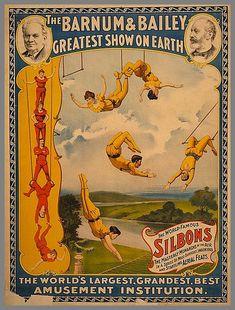 Affiche du crque américain BARNUM