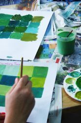 Middle School Painting & Drawing Activities: Mix Monochromatic Colors!