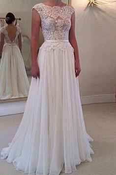 Elegant Jewel Neck Open Back Lace Embellished Dress For Women