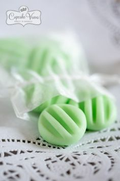 CREAM CHEESE MINTS. --  4 oz cream cheese, softened at room temperature 1 pound (16 ounces) powdered sugar ⅛ – ¼ tsp. oil of peppermint food coloring (used two drops of green, and one yellow).
