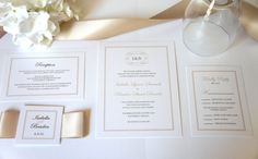 Our luxury champagne wedding invitation is perfect for an elegant, timeless look. Can be customized to any color to reflect your wedding! By KraftWeddingPapers Classy Wedding Invitations, Monogram Wedding Invitations, Wedding Invitation Samples, Formal Invitations, Beige Wedding, Formal Wedding, Wedding Pins, Wedding Ideas, Romantic Weddings