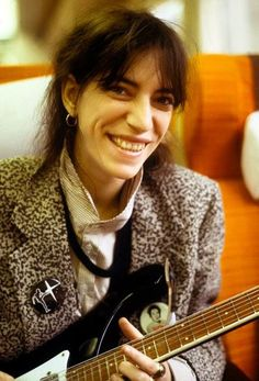 Patti Smith's shiny new Rickenbacker