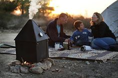 Ziv's Portable Smoker - Foldable, Small and Lightweight - Easy to Use and Clean - Perfect Both for Camping and BBQ Use - Works with any Heat Source