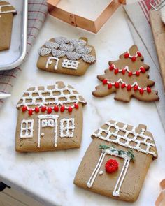 How to Decorate Gingerbread-House Cookies | Martha Stewart