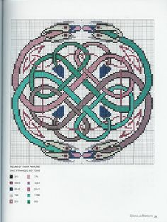"""Borduurpatroon """"Overig"""" Kruissteek *Embroidery Cross Stitch Pattern ~Keltisch *Celtic 3~"""