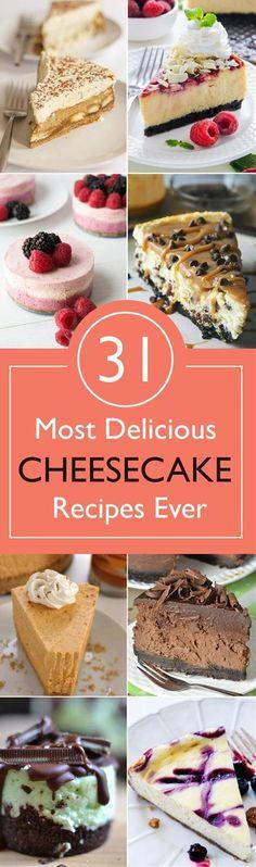 31 Most Delicious Cheesecake Recipes Ever - (postris)