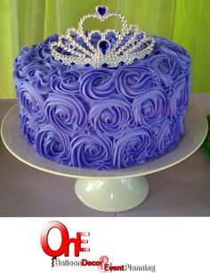 Rosette Cake Purple Princess