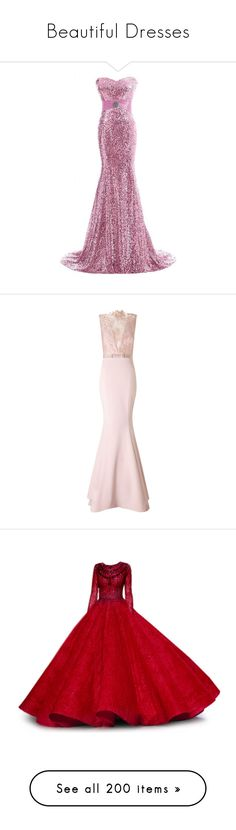 """Beautiful Dresses"" by darkrosestyle ❤ liked on Polyvore featuring dresses, gowns, white gown, long evening dresses, long evening gowns, long prom gowns, bride gowns, long dresses, evening gowns and robe"