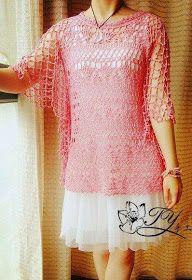 #140 Blusa Calada a Crochet o Ganchillo