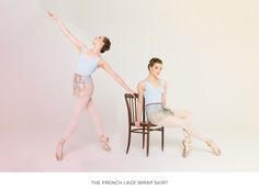 French lace ballet wrap skirts / Cloud & Victory Spring/Summer 2015 - with Joy Womack