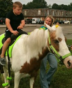Our kids had a blast riding ponies for the first time ever at our Northern Kentucky Daycare for children with #specialneeds