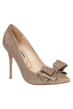 Lucy Choi London Rose Taupe Glitter Heels  Shop now at www.lux-fix.com