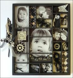 Black and White Wall Tray • Weekly Scrapper: Best use of these trays I have seen!