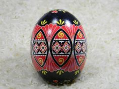 A personal favorite from my Etsy shop https://www.etsy.com/listing/285034016/red-lace-design-ukrainian-egg