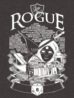 RPG Class Series: Rogue - White Version by Milmino