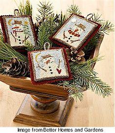Free patterns: Needlepunch ornaments · Needlework News | CraftGossip.com