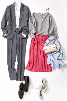 本命デートスカートはエアリー素材を選ぶ! ルミネが提案中の2017春トレンドテーマ「Future Stylist」で注目の深めのパープルやピンクは、全身に輝きや華やかさをもたらす役割が。ルミネ有楽町のアイテムから人気スタイリスト田沼智美さんが色を活用して半歩先をゆくコーデをレッスン!