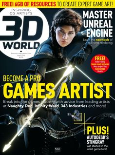 #3D World #Magazine 206, #April 2016. Become a #pro #games #artist! Game-ready #textures, #Maya project files, Game #props & #models.