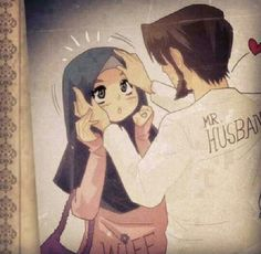 tujh tk hu , tujh se hi hu. Love Cartoon Couple, Cute Couple Art, Cute Couple Pictures, Cute Muslim Couples, Romantic Couples, Cute Couples, Muslim Couple Photography, Islam Marriage, Islamic Cartoon