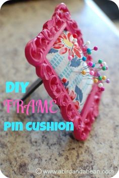 Easy Crafts To Make and Sell – Frame Pin Cushion – Cool Homemade Craft Projects You Can Sell On Etsy, at Craft Fairs, Online and in Stores. Quick and Cheap DIY Ideas that Adults and Even Teens Can Make diyjoy.com/…