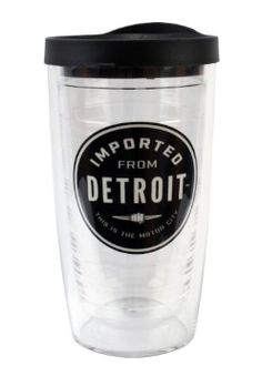 This will be your most popular tumbler. It's 16-oz. of refillable fun. Available in clear.
