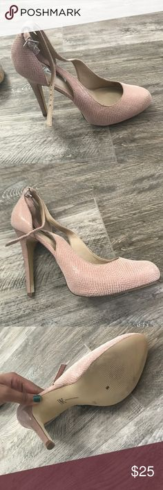 Pink Snakeskin Heels Size: 10 Snakeskin Pink Heels. INC International Concepts Shoes Heels