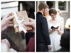 tie your rings to a book of poetry you'll read from during your ceremony