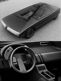 #1980 Citroën Karin Concept Car by Trevor Fiore. The interior must be from another concept. #1980citroen