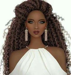 Black is beautiful Black Girl Cartoon, Black Girl Art, Black Women Art, Black Girl Magic, Covet Fashion, Fashion Art, Natural Hair Art, Natural Hair Styles, Black Art Pictures